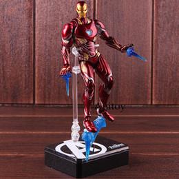 Man War Model Australia - Figuarts Iron Man MK50 & Tamashi Stage PVC Marvel Avengers Infinity War Action Figure Iron Man Mark 50 Collectible Model Toy