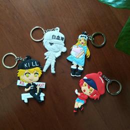 $enCountryForm.capitalKeyWord Australia - 4 Style Cells At Work Fashion Anime Key Chain PVC Figure Keyring cute Toys Keychain Keyholder Birthday Gift Unisex