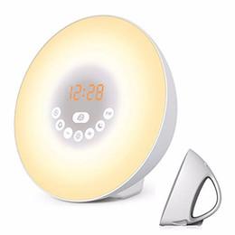$enCountryForm.capitalKeyWord Australia - Wake Up Light Bluetooth Speaker Alarm Clock Sunrise Simulation Digital Led Wireless Column Loudspeaker Fm Radio Y20