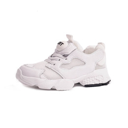 $enCountryForm.capitalKeyWord UK - Kids Shoes 2019 Spring Fashion Girls Real Leather Shoes Boys Clunky Sneakers for Children Running Sports Trainers
