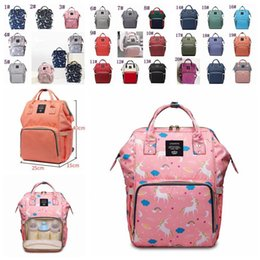 Extra Diapers Australia - Unicorn Diaper Backpack Mommy Bag Mummy Backpack Nappy Mother Maternity Backpacks Cartoon Printed Bag Outdoor Sport Bags Ffa1280