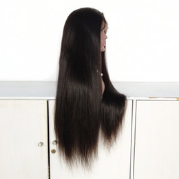 wigs 28 inch NZ - 28 Inch Long Human Hair Full Lace Wig , Brazilian Hair Silk Straight Hair Full Lace Wig in Stock!
