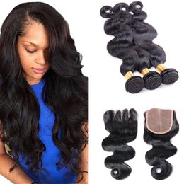 $enCountryForm.capitalKeyWord Australia - 8A Brazilian Body wave With 4X4 Lace Closure Unprocessed Brazilian Virgin Hair Body Wave With Closure Extensions Brazilian Human Hair Weave