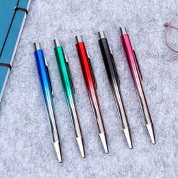Pens Ball Australia - Creative Gradient Pens Cute Metal Ballpoint Pens 1.0mm Kawaii Ball For Writing School Office Supplies Novelty Stationery
