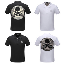men pp clothing NZ - Men polo shirt 2019 quality summer fashion men tee design print PP polo short sleeve t-shirt poloshirt clothes skull shir clothing P906