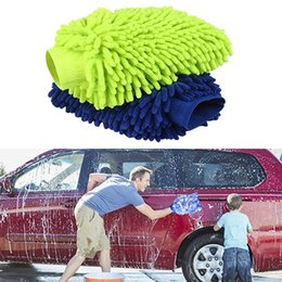wool cloth soft Australia - 4pcs Microfiber Car Window Washing Home Cleaning Cloth Duster Towels Gloves Car Brush Cleaner Wool Soft Motorcycle Washer Care