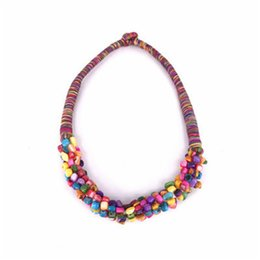 $enCountryForm.capitalKeyWord UK - wholesale Fashion Personality Versatile Bohemian Natural Multicolor Colorful Gravel Hand-woven Necklace Beautiful Birthday Gift