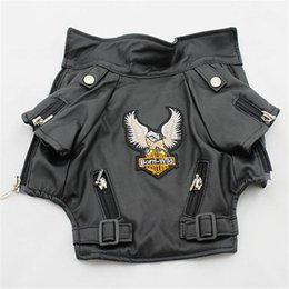 Wholesale xxl outerwear for sale – winter Glorious Eagle Pattern Dog Coat PU Leather Jacket Soft Waterproof Outdoor Puppy Outerwear Fashion Clothes For Small Pet XXS XXL T200101