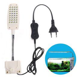 Flexible clamp online shopping - 32 LED Aquarium Fish Tank Light Clamp Clip Flexible White Blue Lighting Lamp