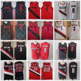 Men Blazer Portland Trail Jersey Basketball 0 Damian Lillard 3 CJ McCollum  22 Clyde Drexler Ripcity Rip City Earned Edition Red Black White 5ed90543b