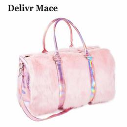 Big Ladies Handbags Australia - Large Tote Bags For Women 2018 Plush Pink Cute Travel Bag Ladies Shoulder Bags Big Female Handbags Sac A Main Women's Totes Bag J190508