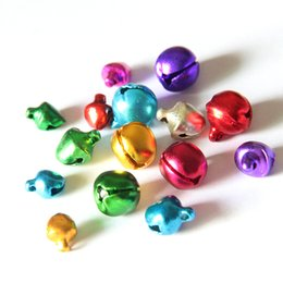 jingle bells christmas NZ - 100 pcs lot 6 8 10MM Mix Colors Metal Loose Beads Small Jingle Bells Pet bells Christmas Decoration Gift