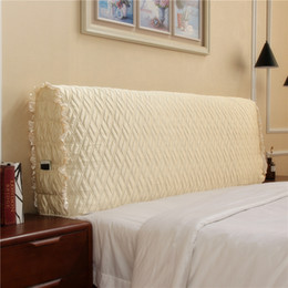 headboard beds Australia - Modern minimalist fabric quilted all-inclusive headboard bed cover dustproof cover solid wood soft bag back bed spread