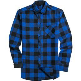30c226c2f7c4a1 2019 New Arrival Spring Autumn Casual Plaid Male Turn- Down Collar Social Men  Smart Casual Shirts Plaid Size S M L XL XXL XXXL