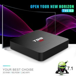 android set top box quad NZ - T95 S2 TV BOX Android 7.1 OS 2GB 16GB Amlogic S905W Quad Core 2.4GHz WiFi Set top box 1GB 8GB T95S2