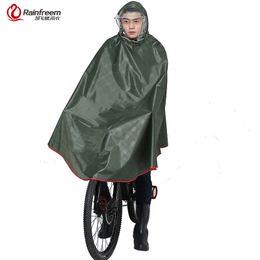 Chinese  Rainfreem Impermeable Raincoat Women Men Thick Bicycle Rain Poncho Plaid Oxford Knitting Jacquard Women Waterproof Rain Gear #219931 manufacturers