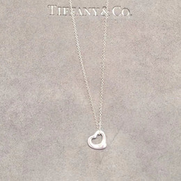 Simple model necklace online shopping - 2019 new famous luxury brand designer jewelry women necklace Early Spring Elegant Simple Silver Loving Heart Hollow out Model Pendant