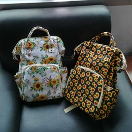 Wholesale Sunflower Shoulder Bag Blanks Large Capacity Bullskull Diaper Backpack Serape Leopard Mummy Baby Care Nappy Bag DOM1061276