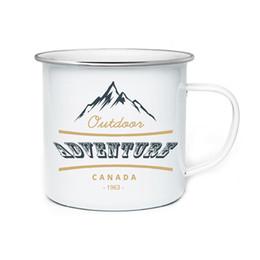 $enCountryForm.capitalKeyWord UK - Fashion Diy 350ml Enamel Mugs Coffee Mug Tea Cup Letter Cups And Mugs Brief Tumbler Enamel Cups Unique Gifts For Friend T8190627
