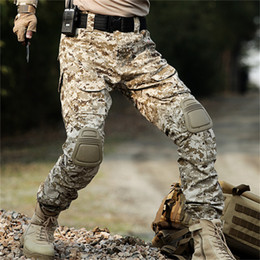 $enCountryForm.capitalKeyWord Australia - HAN WILD Rapid Assault multicam pants with knee pads Camouflage tactical clothing paintball army cargo combat trousers