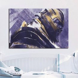 Avengers Wall Decor Australia - Painting Avengers Endgame Marvel Superheroes Canvas Painting HD Wall Picture Poster And Print Decorative Home Decor