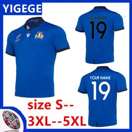 Wholesale ITALY HOME RUGBY WORLD CUP JERSEY Argentina WALES SCOTLAND HOME RUGBY ITALY RUGBY RWC HOME PRO JERSEY Size S XL can print