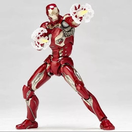 $enCountryForm.capitalKeyWord Australia - 2019 new The Avengers 2 Ironman MK45 SHF Infinite war Steel bone The Flash model movable boxed Toy Action Figure Model