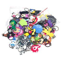 $enCountryForm.capitalKeyWord Australia - 100pcs lot Mix Style Random Pvc Cartoon Key Chain Key Ring Children Anime Figure Keychain Key Holder Kid Toy Pendant TrinketSH190721