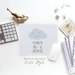 $enCountryForm.capitalKeyWord NZ - Nordic Style Kawaii Cute Cloud Smile Quotes Print Creative Kids Girls Children Gift PC Game Laptop Gaming Computer Mouse Pad Mat