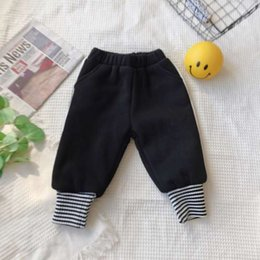 boys fashion red trousers Canada - Toddler Baby Trousers Pants little girl boys clothes Spring Autumn fashion clothes Loose sweat pants for Christmas High Quality