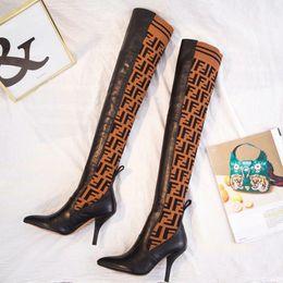 176652b49 Botas de invierno de marca de lujo Botas de cuero de cordero negro Botas  altas de Rockoko para mujer Calzado de botines Australia Botas de tacón  alto de ...