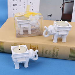 Gifts Candle Holder NZ - Creative Elephant Candle Holder Resin Place Card Holder Wedding Favor Gifts Wedding Table Ornaments DHL Free Shipping