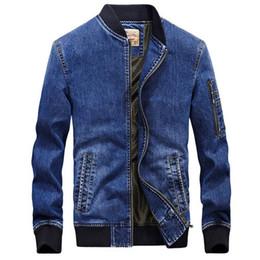 $enCountryForm.capitalKeyWord Australia - Men jeans jacket brand new fashion bomber denim jackets mens casual cowboy embroidered 4XL coat streetwear male clothes chaqueta