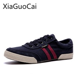 $enCountryForm.capitalKeyWord Australia - Brand Spring and Autumn Men Casual Shoes Retro Canvas Shoes Breathable Casual for Man Gingham Basic Lace-up Flats