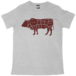 $enCountryForm.capitalKeyWord Australia - CUTS OF BEEF COW DIAGRAM MENS PRINTED CHEFS T-SHIRT New T Shirts Funny Tops Tee New Unisex Funny Tops