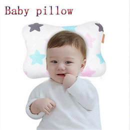 baby infant anti roll pillow Australia - Comfortable Cartoon Infant Pillows Support Prevent Anti Roll Baby Pillow Flat Head Neck Toddler Cotton Sleeping Cushion Soft Hot