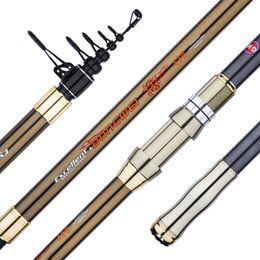 power poles 2019 - Carbon Distance Throwing Rod Fishing Pole Strong Hard Power Rock Fishing Canne Casting Long Sections Oltas 3.6m 4.5m che