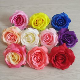 $enCountryForm.capitalKeyWord Australia - Artificial rose Flower Heads for Wedding party Decoration DIY Wreath Gift Box Scrapbooking Craft Fake Flowers big rose heads without branch