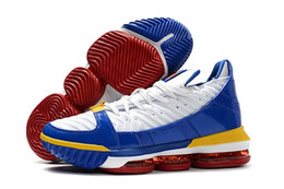 pretty nice d6a58 0f311 New Style lebron 16 SB SuperBron Men Basketball Shoes Trainer Good quality  White Varsity Red Royal Blue James 16 Mens Athletic Sports