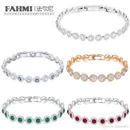 product accessories jewelry UK - FAHMI SWA High Quality Products Rose Gold Crystal Personality Buckle Bracelet Women Fashion Jewelry Accessories Girlfriend Gift