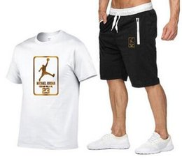 Wholesale set soccer t shirts for sale – designer 2020 Women Designer Brand Clothing Summer Piece Set Short Sleeve T Shirt Shorts Letter Sports Suit Crew Neck Outfits Fashion Jogging Suit