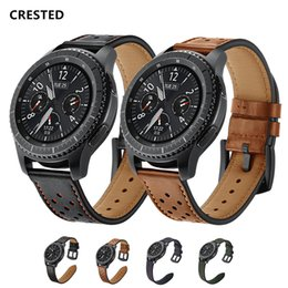 banded gear Australia - 22mm Watch Band For Samsung Gear S3 Frontier Galaxy Watch 46mm Strap Leather Watchband Bracelet Belt Amazfit Pace stratos 2 1 T190620