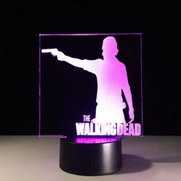 $enCountryForm.capitalKeyWord Australia - The Walking Dead 3D Decor Night Light LED 7 Colors Changing Desk Lamp 3D Novelty Nightlight for Child Gifts Free Dropship