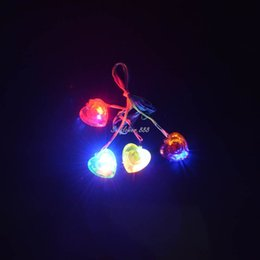 $enCountryForm.capitalKeyWord Australia - LIGHT UP FLASHING LOVE HEART LED NECKLACES CHILDREN TOY Party Glow Necklace Decoration navidad Christmas Halloween