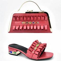 $enCountryForm.capitalKeyWord Australia - 2019 brand fashion designer luxury handbags purses for women Heeled shoes and bag sets Lace Tassen voor Vrouwen Nigeriaanse Schoenen en Ta