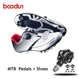 Cycle Pedals Mountain Australia - BOODUN Mountain bike shoes 2019 Men women cycling shoes sapatilha ciclismo mtb self-locking breathable spd pedals riding