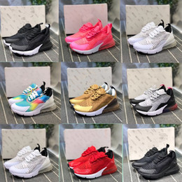 Discount kids athletic shoes - 2019 Kids Athletic Shoes Children 27c Indigo Blue BARELY ROSE Pink Triple White 27c Sneakers for Boy Girl Toddler Chauss