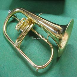 Ingrosso strumenti musicali di vendita caldi Giove JFH-846 Flicorno Bb Brass Bell lacca professionale in metallo con il caso di trasporto