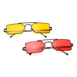 $enCountryForm.capitalKeyWord UK - Geometric Sunglasses Rectangle Fashion Metal Frame Small UV400 Driving Unisex Sun Glasses Eyewear