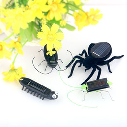 Energy Gadgets Australia - 5 Style Mini Novelty Kid Solar Energy Powered Spider Cockroach Power Robot Bug Grasshopper Educational Gadget Toy For Children